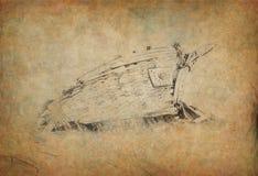 Statku wrak Royalty Ilustracja