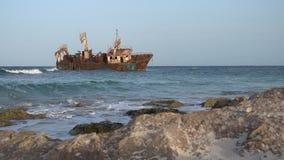 Statku wrak w Kelibia, Tunezja zdjęcie wideo
