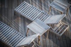Statku Wycieczkowego Deckchairs zbliżenie Fotografia Royalty Free