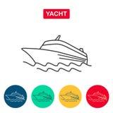 Statku wycieczkowego logo Jacht Fotografia Royalty Free