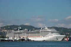 Statku wycieczkowego MSC fantazja w losie angeles Spezia, Włochy Obraz Royalty Free