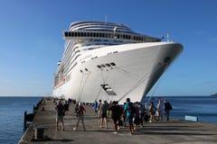 Statku wycieczkowego MSC fantazja w St George ` s, Grenada Obraz Stock