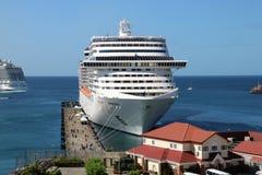 Statku wycieczkowego MSC fantazja w St George ` s, Grenada Zdjęcia Stock