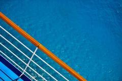 Statku Wycieczkowego pokładu poręcza widok Zdjęcia Royalty Free