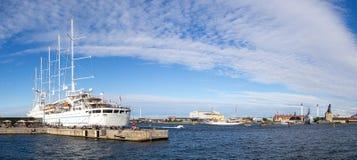 Statku wycieczkowego wiatru kipiel w Kopenhaga Zdjęcia Stock