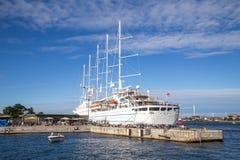 Statku wycieczkowego wiatru kipiel w Kopenhaga Zdjęcia Royalty Free