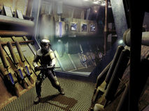 Statków kosmicznych korytarze Zdjęcie Stock