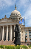 Statlig capitol för oklahoma city Fotografering för Bildbyråer