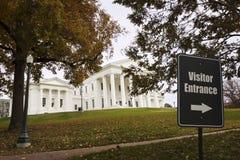 Statlig Capitolbyggnad i Richmond, VA arkivfoto