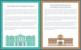 Statlig eremitboningkonst och kultur, nationellt museum stock illustrationer