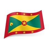 Statlig flagga av Grenada Arkivbild