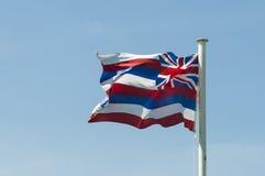 Statlig flagga av Hawaii Arkivbilder