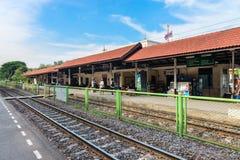 Statlig järnvägsstation i Thailand Royaltyfria Bilder