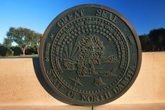 Statlig Kapitolium av North Dakota, Bismarck royaltyfri bild