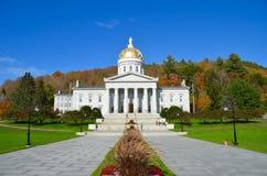 Statlig Kapitoliumbyggnad i Montpelier Vermont Arkivbilder