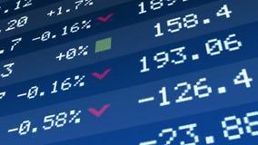 Statlig nationalekonominypremiär, tillväxt för företagstillgångpris på aktiemarknadskärm royaltyfri bild