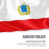 Statlig Saratov Oblast för ryss flagga Royaltyfri Fotografi