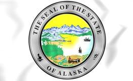 Statlig skyddsremsa av Alaska, USA royaltyfri illustrationer