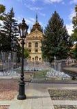 Statlig teater i den gamla staden, Kosice, Slovakien royaltyfria foton