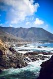 Statlig väg nummer 1, stor Sur fjärd, Kalifornien, USA Fotografering för Bildbyråer