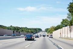 Statliga New York antinoise vägbarriärer royaltyfri fotografi