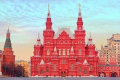 Statligt historiskt museum i Moskva, Ryssland Fotografering för Bildbyråer