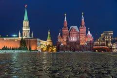 Statligt historiskt museum, röd fyrkant, Moskva, Ryssland Arkivfoton