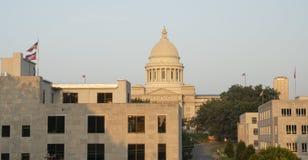 Statligt landskap Little Rock Arkansas USA för Kapitoliumbyggnadsjordning royaltyfri foto