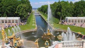 Statligt minnes- gods Peterhof petersburg russia st arkivfilmer