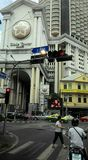 Statligt torn på silom Bangkok Thailand Arkivbild