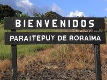 Stato benvenuto del Sudamerica Bolvar della città del segnale Immagine Stock Libera da Diritti