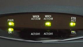 Stato del LED del router video d archivio