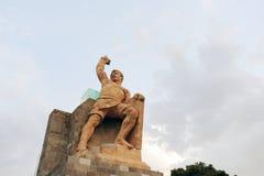 Stato del monumento di Pipila in Guanajuato, Messico immagini stock libere da diritti