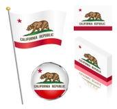 Stato dell'insieme della bandiera di California Fotografie Stock