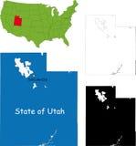 Stato dell'Utah, S.U.A. illustrazione vettoriale