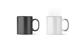 Stato freddo e caldo magico in bianco del modello della tazza, Immagini Stock