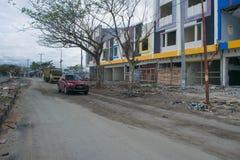 Stato locale del deposito su Talise dopo il Tsunami Palu il 28 settembre 2018 immagine stock