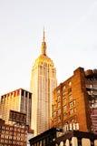 Stato New York dell'impero con il fondo del cielo Immagini Stock