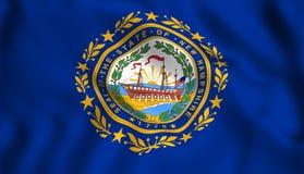 Stato USA del New Hampshire della bandiera illustrazione di stock