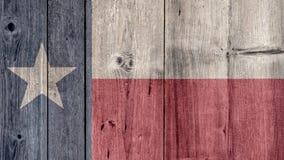 Stato USA Texas Flag Wooden Fence immagine stock libera da diritti