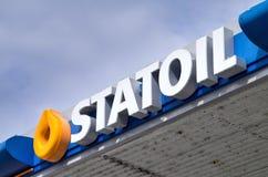 Statoil bensinstation royaltyfria foton