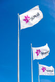 Statoil corporate flags Stock Images