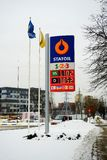 Statoil fuel station stand in Vilnius city Stock Photos
