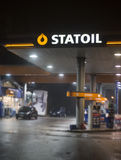 Statoilbenzinestation Stock Afbeeldingen