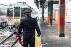 Staton della ferrovia del Giappone Fotografia Stock Libera da Diritti