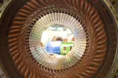 Stator of a big electric motor Royalty Free Stock Photos