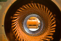 Stator of a big electric motor Royalty Free Stock Photo