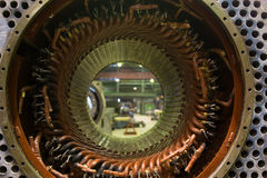 Stator of a big electric motor Stock Images