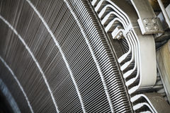 Stator in an electric motor. Close-up shot of a stator from a big electric motor Stock Image