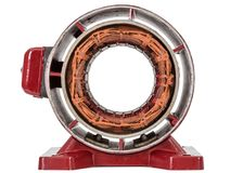 Stator of electric motor, isolated on white background stock photography